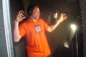 Devin, the master of quirky voice over, proves that it really helps to use your hands in the booth if you want to nail that specific sound and energy you're looking for.