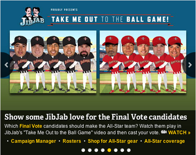 """ac896b59 MLB Final Vote Nominees In """"Take Me Out to the Ball Game"""" Videos ..."""