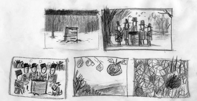 Pilgrim Sketch Drawing