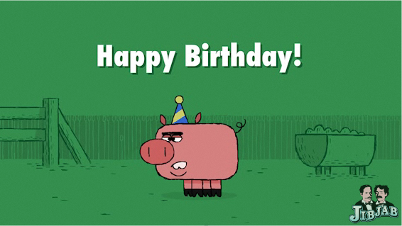 New Birthday Ecard Gettin Piggy With It The Jibjab Blog