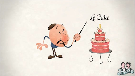 This ECard Though Helps That Special Birthday Someone Learn A Few Choice Words In French The Most Important Of Those Being Cake