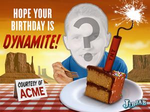 Jibjab Birthday Cake